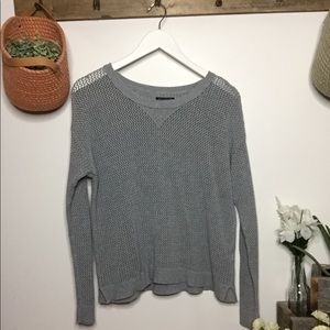 American Eagle Loose Knit Gray Long Sleeve SZ M
